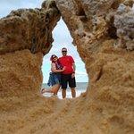 Parada na praia do Taípe. Foto tirada pelo guia.