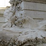 Some of the detail of Trevi Fountain