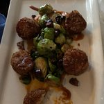 Pan seared scallops with brussel sprouts