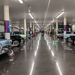 A lineup of cars in one of the floors