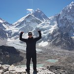 at Kala Pattha with Mt Everest in the background