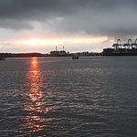 Sunset from port side on Sept. 23, 2018