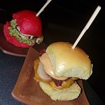 Prawns slider and Chicken slider