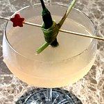 Gin martini with a fresh chili