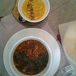 суп и тыквенный мусс