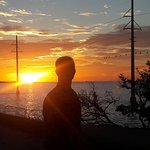 Seven mile bridge where Sunset resterant is
