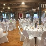 Wedding reception in Visitors Center with a difference.