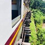 Train on the Tham Krasae Bridge