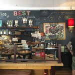 Fresh pastries, excellent coffee, and room to move around even when this place is packed.