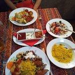 Lamb kofta and chicken
