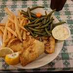 generous portions (fish and chips)