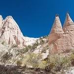 A typical view of the tent rocks