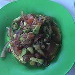 Tuna tostado appetizer