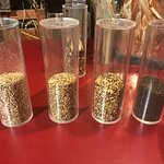 The different roasted malts.