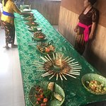 All the dishes that we made for the big feast