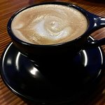 Mesteeso (Brazilian) decaf latte....rich & satisfying!