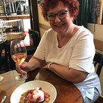 Mum and her favourite desert ever - the cheesecake