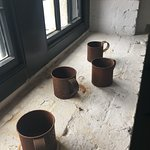 Cups on one of the Citadel's window sills