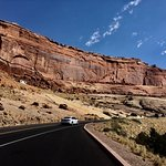Driving Up Into Arches National Park