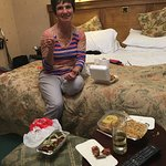 Fine dining in the Hotel room