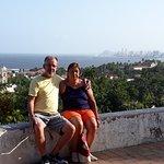 Vista panoramica de Olinda e Recife ao fundo.