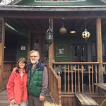 Hal and I in front of Common Grounds on the tour