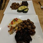 Ribeye cap steaks and sides...WOW!...Crazy Good:)