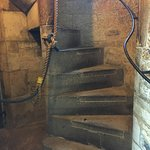 sprial stairs to upper levels