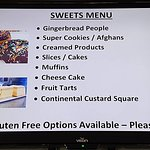 Sweets menu available all day