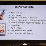 Breakfast menu available till 2pm