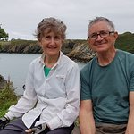 Happy hikers on the Isle of Anglesey Coast Path