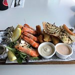Photo of the Helm Bar & Bistro seafood platter...yum