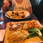 Fishermans Platter and Seafood Pasta
