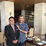 With Restaurant Manager Sourav Chowdhury