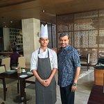 With Salad Master Chef Suraj