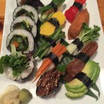 vegie sushi platter