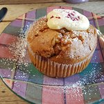 strawberry & white choc muffin