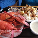 lobster, scallops and clam chowder
