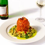 Pork with risotto