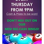 Bingo every Thursday Night