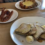 Gluten-free French toast and fab bacon
