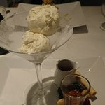 Their own take on Affogato (with a shot of amaretto!)