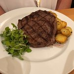 Dry aged Cornish rib-eye steak