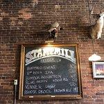 Beer menu - get the Moose Drool!