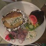Ofenkartoffel mit Matjes