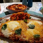 Veal Parm with a side of pasta