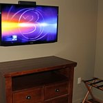Flat-screen TV with cable TV and Wi-Fi