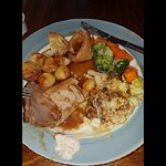 The worst roast I've had in years, meat hard and cauliflower cheese even harder.