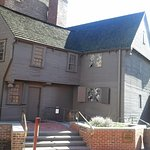 Paul Revere house fro the street alo g the Freedom Trail