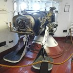One of the deck guns from inside the mid deck.  5.5 inch.